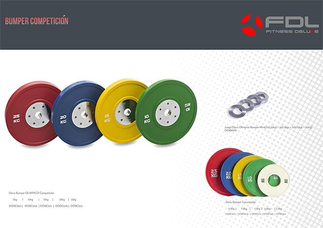 Disco Bumper competición -disco bumper fraccional -discos mini
